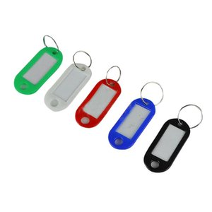 In 1 Assorted Color Plastic Key ID Label Name Card Tags Keychains Keyrings Storage Boxes & Bins