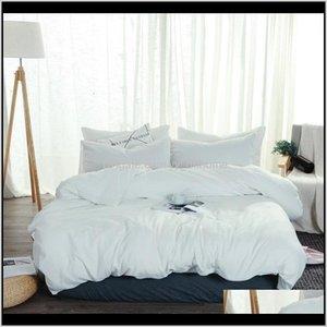Washed Cotton Duvet Cover Modern Adult Bedding Set White Solid Color Bed Sheet Linen Queen King Soft Bedclothes Pillowcase Sets Jmxlw Scjpn