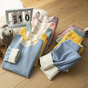 Pajamas V-TREE 2pcs Children's Sets Warm Long Sleeve Shirt+pants Suit For Girls Boys Sleepwear Outfits Autumn Winter