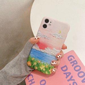 أزياء فاخرة مصمم جميل مشهد النفط الطلاء الحالات الهاتف الخليوي ل iphone6 7 812 11 xs برو ماكس xrmini زائد