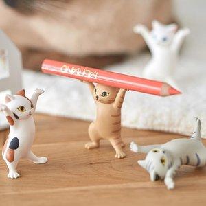 2021 Qualia engraçado brinquedos co-marca encantador coquete gato jogos caneta titular preto carregando caixão braquete ornamentos bonitos mão para fazer