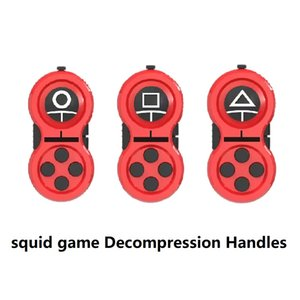 squid game Decompression Handles Cube Fingertip Toys Pressure Reliever Games Controller Buttons Decompress Children Toy