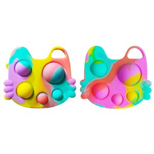TikTok Push Bubble pop it Autism New Fidget Toys Special Needs Stress Reliever Helps Relieve Stress and Increase Focus Soft Squeeze Toy