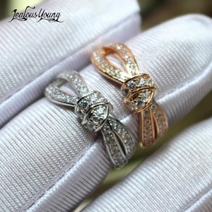 Cluster Rings Romantic Infinity Finger For Women Girl With Luxury Zirconia Engagement Crystal Jewelry Wedding Party Gift