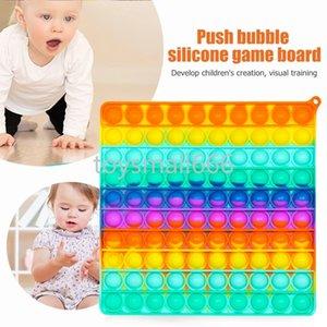 Большой размер радуга толчок пузырьки ежис сенсорные игрушки для Autisim специальные нужды антистрессовый игрой стресс рельеф