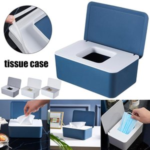 Tissue Boxes & Napkins Est Multifunctional Dustproof Storage Box Case Wet Wipes Dispenser Holder With Lid For Face Cover