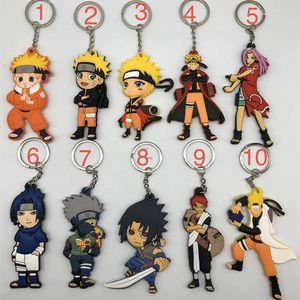 Cartoon Keychain Naruto Kakashi Sasuke pendant double sided soft adhesive advertising giftsBO1S