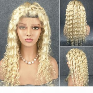 Brazilian Virgin Full Lace Human Hair Wigs Glueless Full Lace Front Wig Blonde 613 Color Deep Wave Wigs for Black Women Free Part