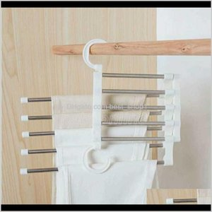 Racks Housekeeping Organization Home Garden Drop Delivery 2021 Multi Functional Clothes Hangers Pant Cloth Trousers Hanging Shelf Nonslip Clo