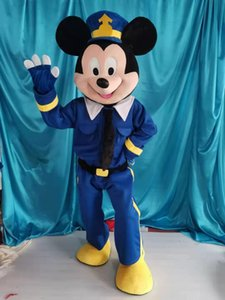 mouse Policeman Mascot Costume Fancy Dress For Halloween Carnival Party support customization