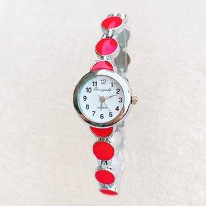 Wristwatches Fashion Elegant Watch Women Girl Exquisite Metal Alloy Band Quartz Bracelet Wrist Watches 951