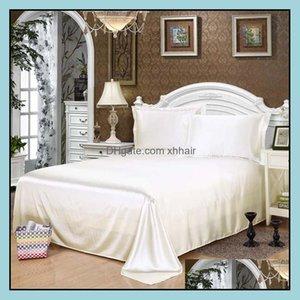 Sheets Supplies Textiles Home Gardensheets & Sets Wholesale!100% Soft Skin Stain Silk Bed Sheet +2 Cases Wedding Bedding Set, Linen Set Disc