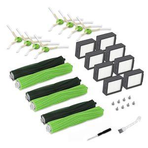 Vacuum Cleaners 32Pcs E7 I7 I7+ I3 I6+ I8 E5 E6 Cleaner, Replenishment Kit - 3 Set Roller Brushes,8 Filters,8 Side Brushes