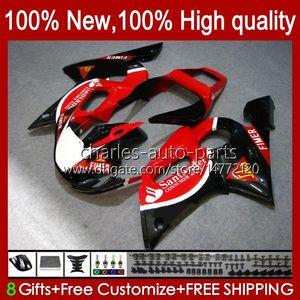 BodysKitForYAMAHAYZFR6R698-02YZFR69899000102Bodywork1No.57YZF600CCYZF-600YZF-R6YZF600600CC19981999200020012002ABSFullFairing black red blk