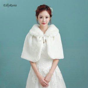 Wraps & Jackets Bridal Bolero Women Faux Fur Bride Wedding Jacket Cloak Shrugs For Evening Party Shoulder Capes Stoles
