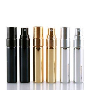 Mini 5ML Electroplated Glass Spray Perfume Bottle Press-packed Travel Portable Shading Small Sample Bottles