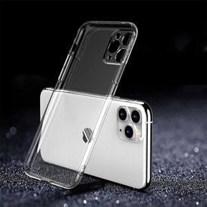 Luxury 0.2mm Ultra Thin Transparent PC Soft Phone Cases For iPhone 11 12 Pro Mini X XR XS Max SE 6 6s 7 8 Plus Anti-knock Protective Full Case Clear Back Cover