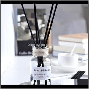 Essential Oils Diffusers No Fire Aromatherapy Fragrance Glass Bottle Essence Reed Diffuser For Home Office Car El Air Fresheners Qk4Mp Xwtbg