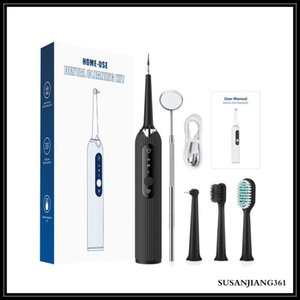 EPACK Electric Toothbrush Ultrasonic Electric Dental Scaler Portable Household 3-Speed Oral Cleaning Tool With Replacement Head Set