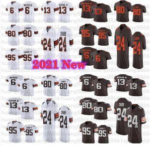 2021 Erkekler 24 Nick Chubb 13 Odell Beckham Jr 6 Baker Mayfield 95 Myles Garrett Landry Jersey