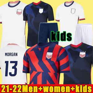 2021 Pulisic McKennie Soccer Jersey Aaronson Musah 2020 Press Sargent Morgan Lloyd América Fútbol Jerseys United States Shirt Camisetas Lletget Dike Hombres + Niños