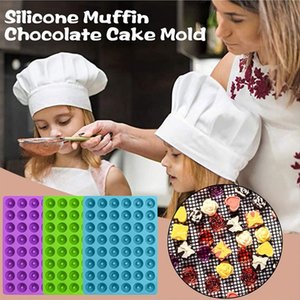 48 Slots Silicone Rectangle Donut Moulds Simulation Mini Doughnuts Chocolate Mould Easy Demoulding Kitchen Baking Mold Tools Multi Color