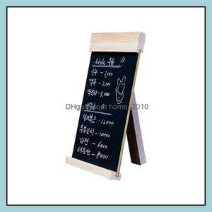 Blackboards Supplies Office School Business & Industrialdesktop Mes Blackboard Wood Easel Chalkboard Wooden Memo Black Board Collapsible Wri