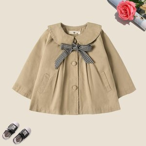 Coat Baby Girls Outerwear 2021 Spring & Autumn Children Windbreakers For Plaid Kids Coats Cute Toddler 18M-8 Years