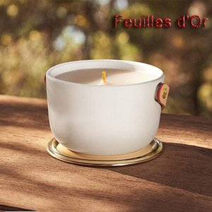 Scented Candle Bougie 220g Brand Parfum Candles Long Smell Perfumed Fragrance Wax Dehors II Neige Feuilles lle Blanche L'Air du Jardin Fast Ship