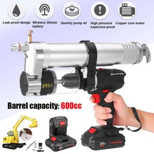 Power Tool Sets Drllpro 21V 600ml Cordless Electric Grease Gun Rechargeable Lithium Battery Drill Screwdriver