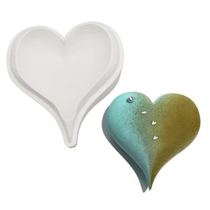 Wholesale 3D Diamond Love Heart Shape Silicone Molds Moulds for Baking Sponge Chiffon Mousse Dessert Cake Food Grade 1429 V2