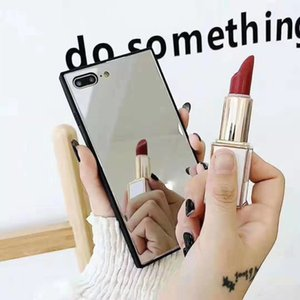 New square makeup mirror for iPhone 12 case Apple x case xrxsmax