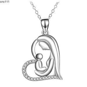 Mother Daughter Jewelry Love Necklace Pendant Women Color Heart Shape Chokergifts For Mum Sterling Bijoux Femme