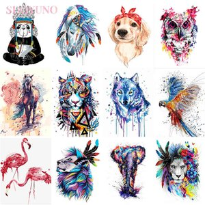 diy oil colorful animals ing with frame adults acrylic kits pictures by numbers for bedroom wall paint