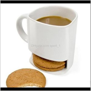 Drinkware Kitchen Dining Bar Home Garden Drop Delivery 2021 Milk Cups With Biscuit Holder Dunk Coffee Mugs Storage For Dessert Christmas Gift