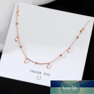 925 Sterling Silver Small Round Bead Choker Necklace For Fashion Women Minimalist Fine Jewelry Cute Accessories