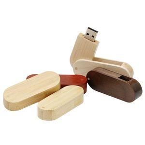 USB Flash Drives Saber Model Rotate Wood Usb2.0 128GB Pen Drive Stick 8GB 16GB 32GB 64GB Memory Stick Pendrive