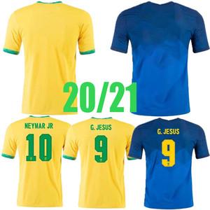 رجل 20 2021 Brasil Neres Coutinho Soccer Jersey Mailleots de futbols البرازيل G.Jesus Fridsino Marcelo الكبار قميص كرة القدم الفانيلة