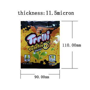 12 flavors Mylar Bag Trolli Trrlli Errlli Edibles Gummies Packaging Smell Proof Resealable Zipper Lock Pouch 600mg Logo Custom Crawlers Sour Brite Case