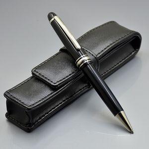 Promoção - luxo msk-145 negro resina caneta de esferográfica de alta qualidade escrita bola point pens papelaria escolar material de escritório com número de série