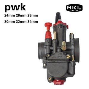 Black PWK 24 26 28 30 32 34 MM Stroke Engine Motorcycle Carburetor ATV Buggy Quad Go Kart Jet Dirt Bike Fit On Racing Assembly