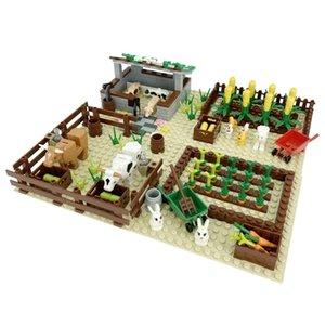 Blocks Educational ScoobytoyMOC radish, Building pig's dog's nest, cowshed, grain farm, small corn building block scene, neutral assemblyfid