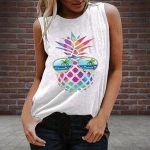 Women's Buy New Colorful Pineapple Design Fresh and Sweet Pullover Sleeveless Vest Q17J