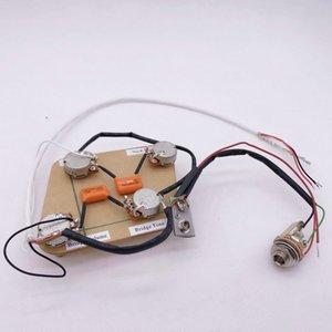 1 Set GuitarFamily Electric Guitar Active Pickup Wiring Harness ( 4x TQ 25K Pots + 1x Jack )#0546