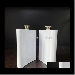 Mugs Kitchen Dining Bar Home Garden Drop Delivery 2021 Blank Sublimation Hip Flask Stainless Steel Water Bottle Double Wall Diy Lover Outdoor