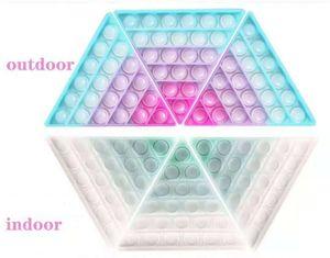 Ändert Farbe in der Sonne Push Pop Zappel Blase Poppers Board Toys Rainbow Sensory Poo Seine photochromischen Blasen Puzzle Stress Relief ADHD braucht