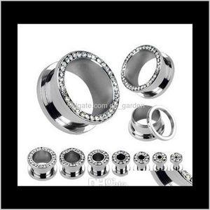 Plugs Tunnels Lot Clear Crystal Ear Gauges Flesh Tunnel Plug Helix Piercing Body Jewelry Pirsing Xfhwy 6Ji28