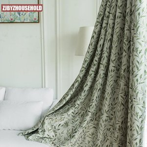 Curtain & Drapes Pastoral Style Modern Minimalist European-style Curtains High Shading Leaf Printing For Living Room Bedroom