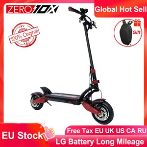 الأسهم الاتحاد الأوروبي صفر 10x سكوتر المزدوج محرك سكوتر الكهربائية 52V 2000W E-Scooter 65KM / H مزدوج محرك الأقراص عالية السرعة سكوتر قبالة الطريق