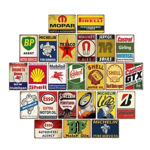 Motor Oil Signs Garage Metal Plaque Gas Station Tin Plate Retro Poster Home Decorative 20x30cm